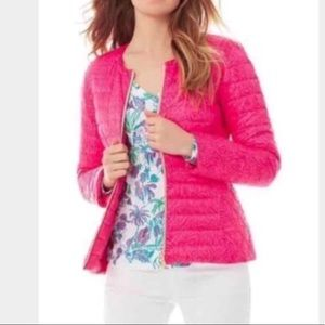 Fall Puffer Pink NWT Reversible Quilted
